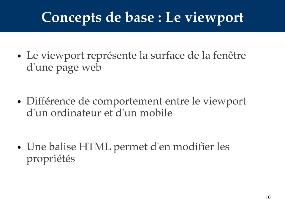 comportement entre le viewport d'un ordinateur et d'un