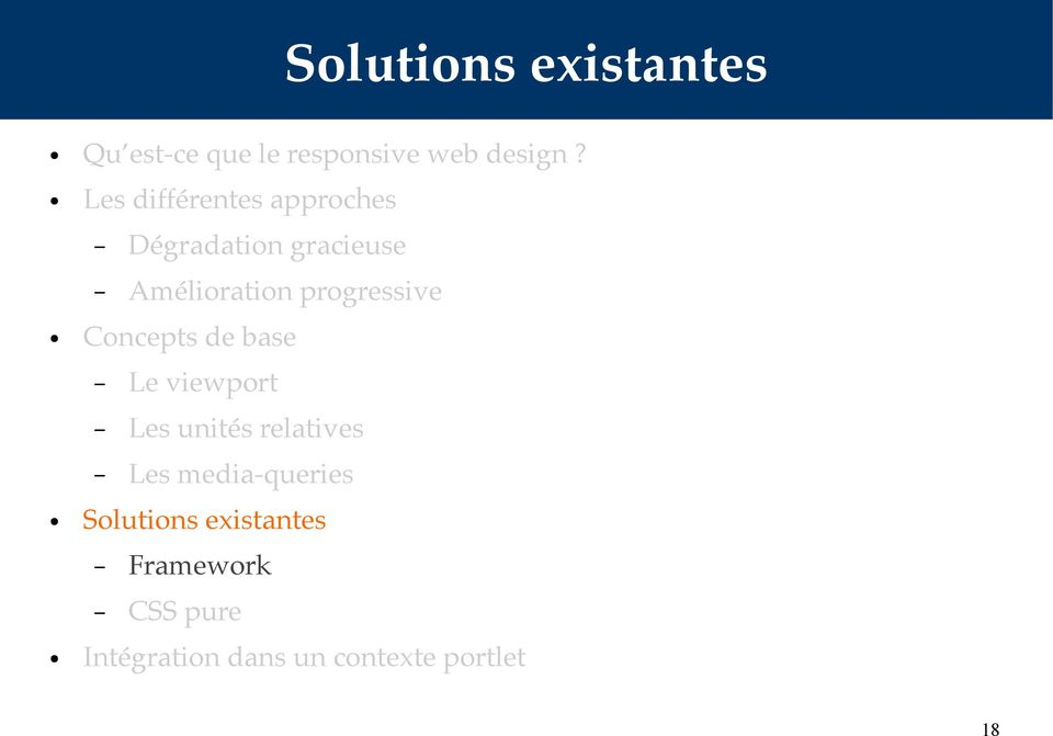progressive Concepts de base Le viewport Les unités relatives Les