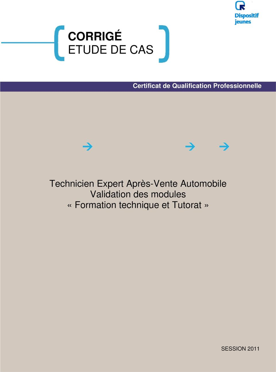 Expert Après-Vente Automobile Validation des