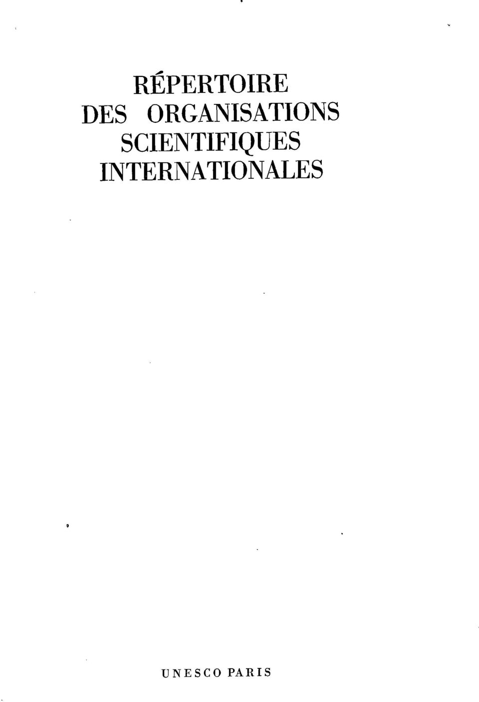 SCIENTIFIQUES