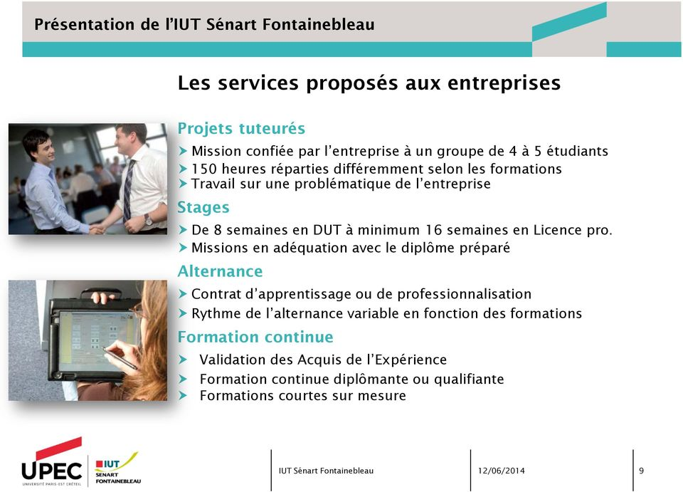 semaines en Licence pro.