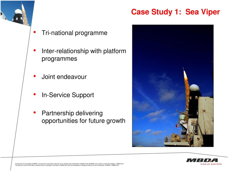 programmes Joint endeavour In-Service
