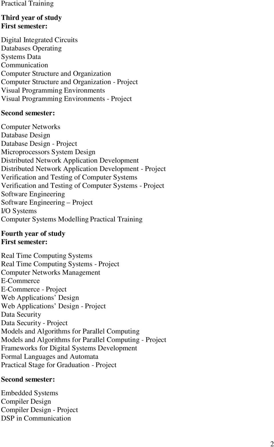 Distributed Network Application Development - Project Verification and Testing of Computer Systems Verification and Testing of Computer Systems - Project Software Engineering Software Engineering