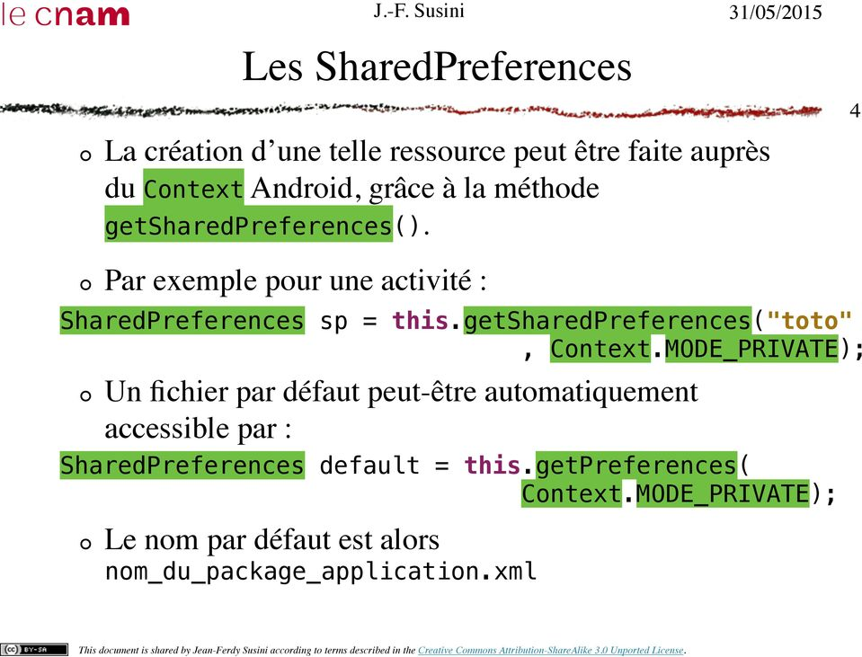 "getsharedpreferences(""toto"", Context."
