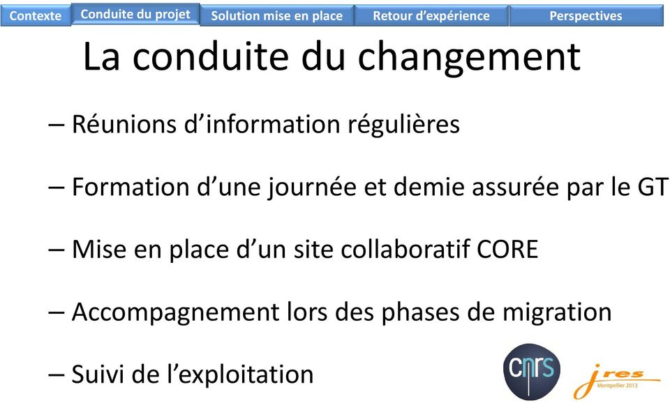 par le GT Mise en place d un site collaboratif CORE