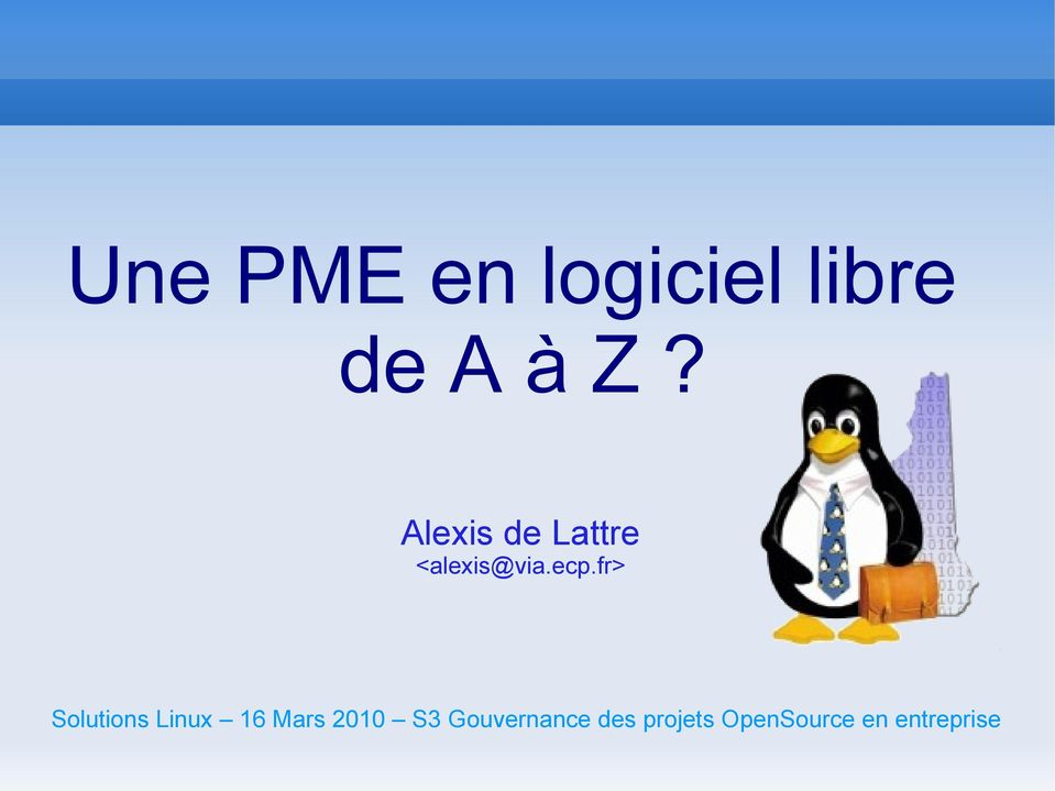 fr> Solutions Linux 16 Mars 2010 S3