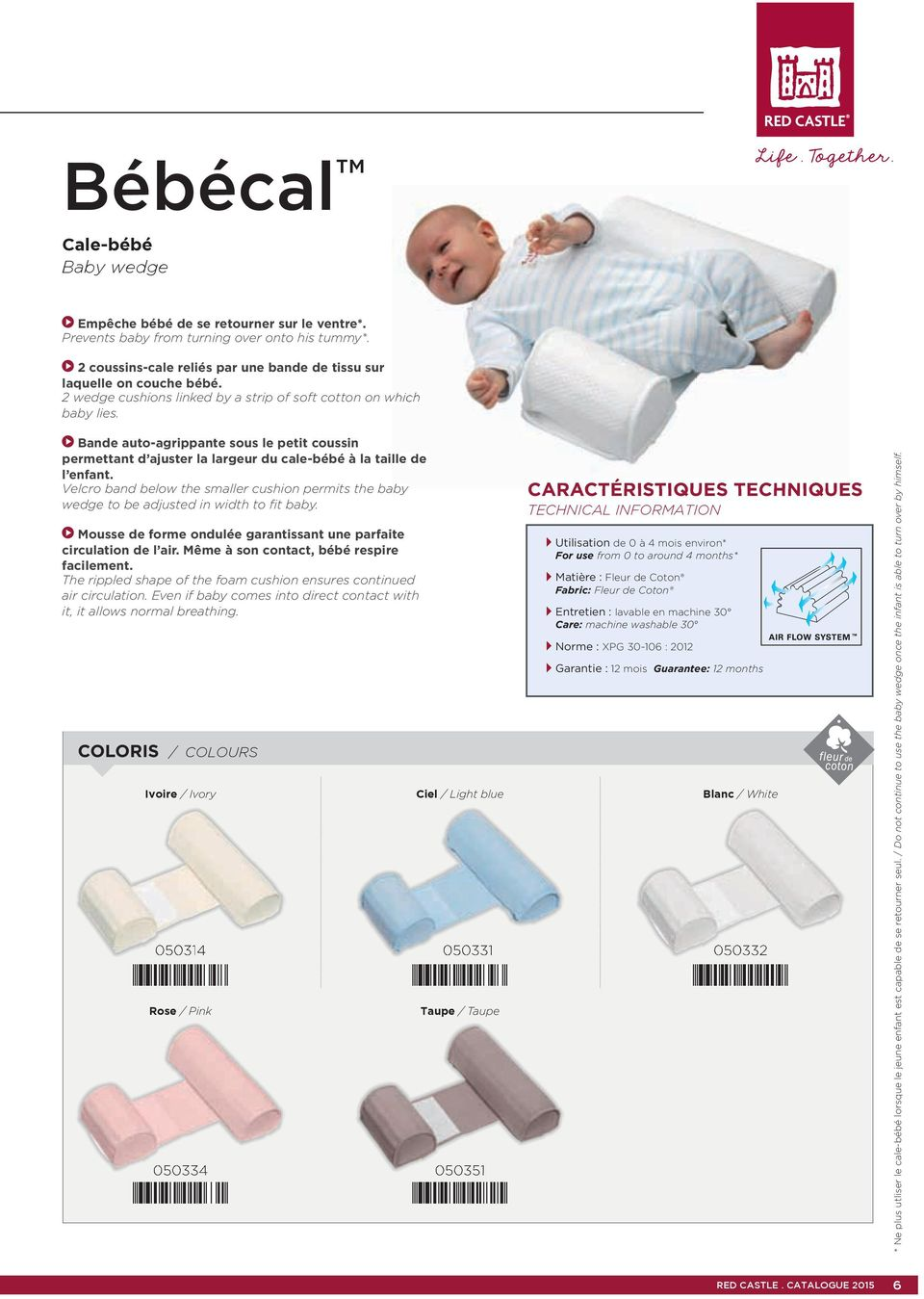Velcro band below the smaller cushion permits the baby wedge to be adjusted in width to fit baby. Mousse de forme ondulée garantissant une parfaite circulation de l air.