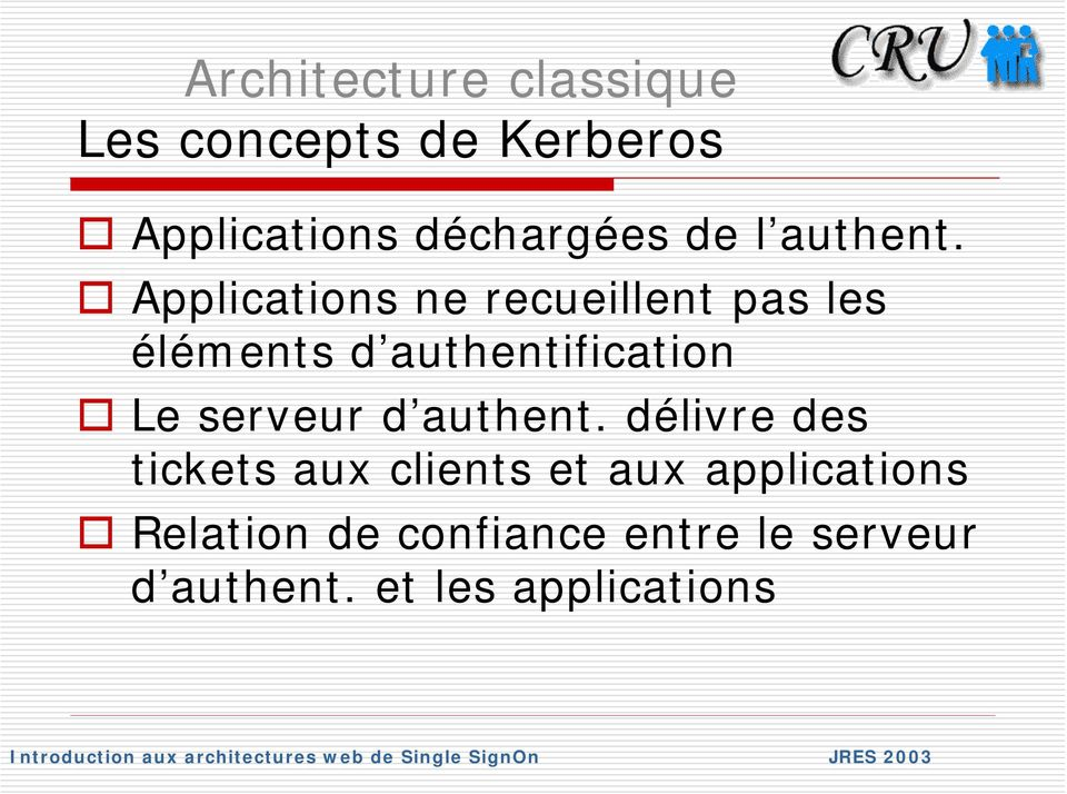 Applications ne recueillent pas les éléments d authentification Le