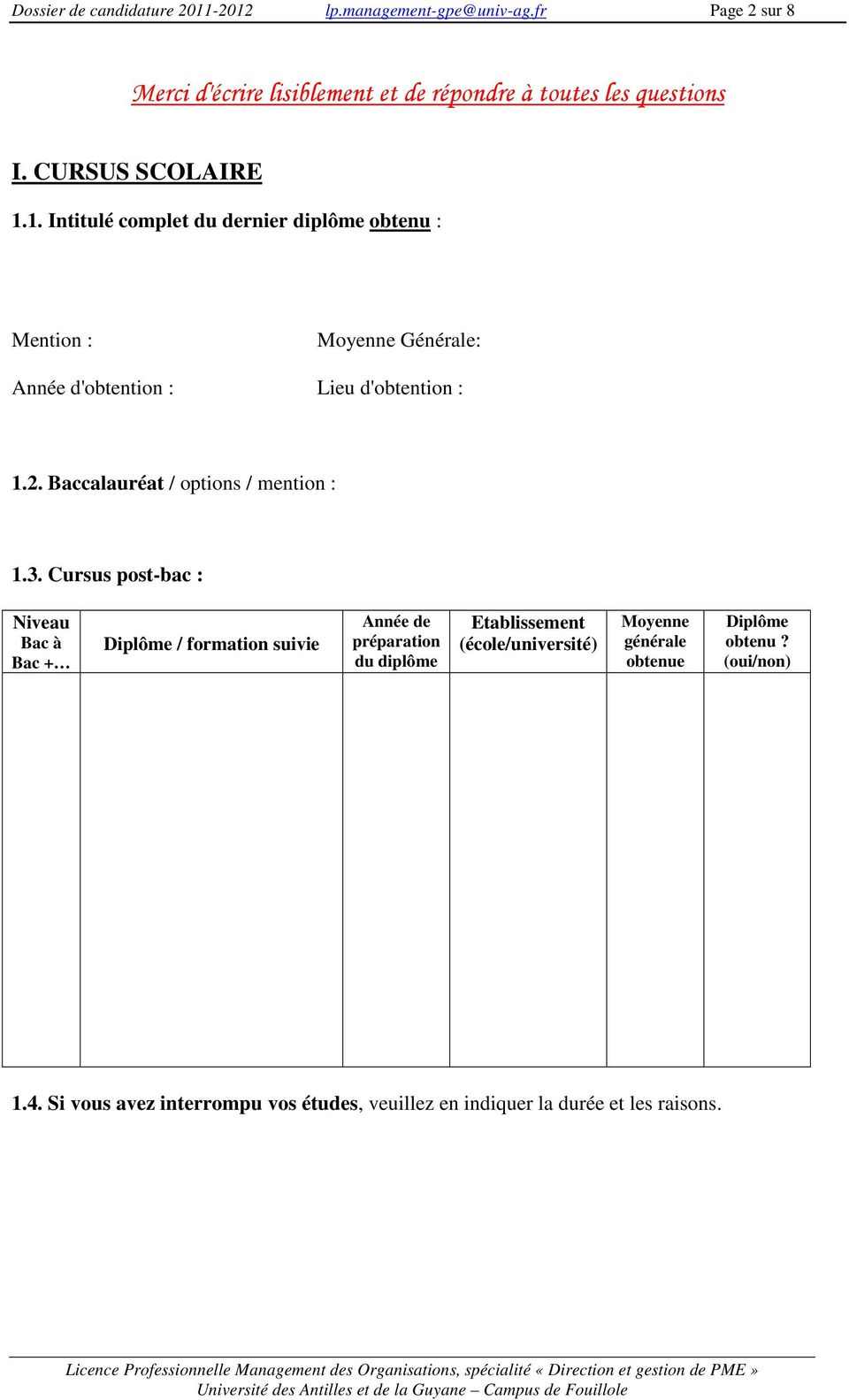 Baccalauréat / options / mention : 1.3.