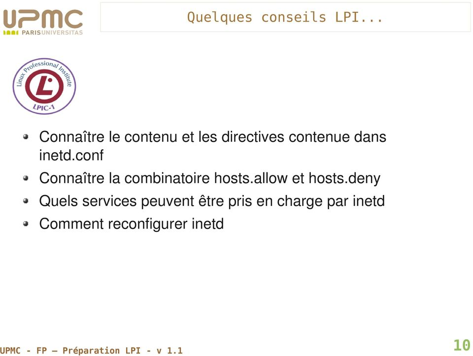conf Connaître la combinatoire hosts.allow et hosts.