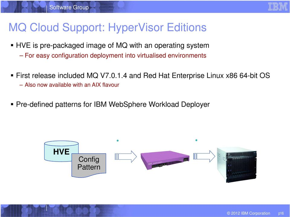 4 and Red Hat Enterprise Linux x86 64-bit OS Also now available with an AIX flavour Pre-defined