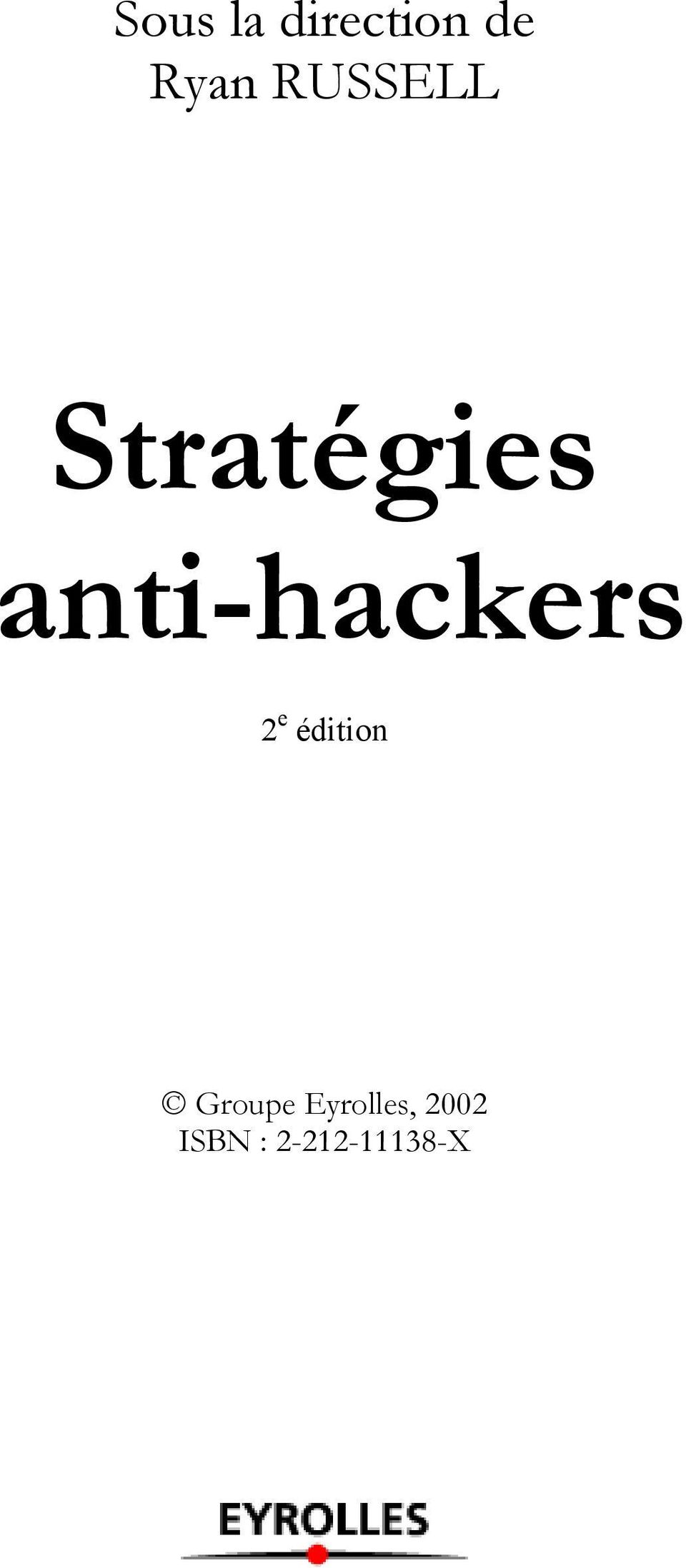anti-hackers 2 e édition