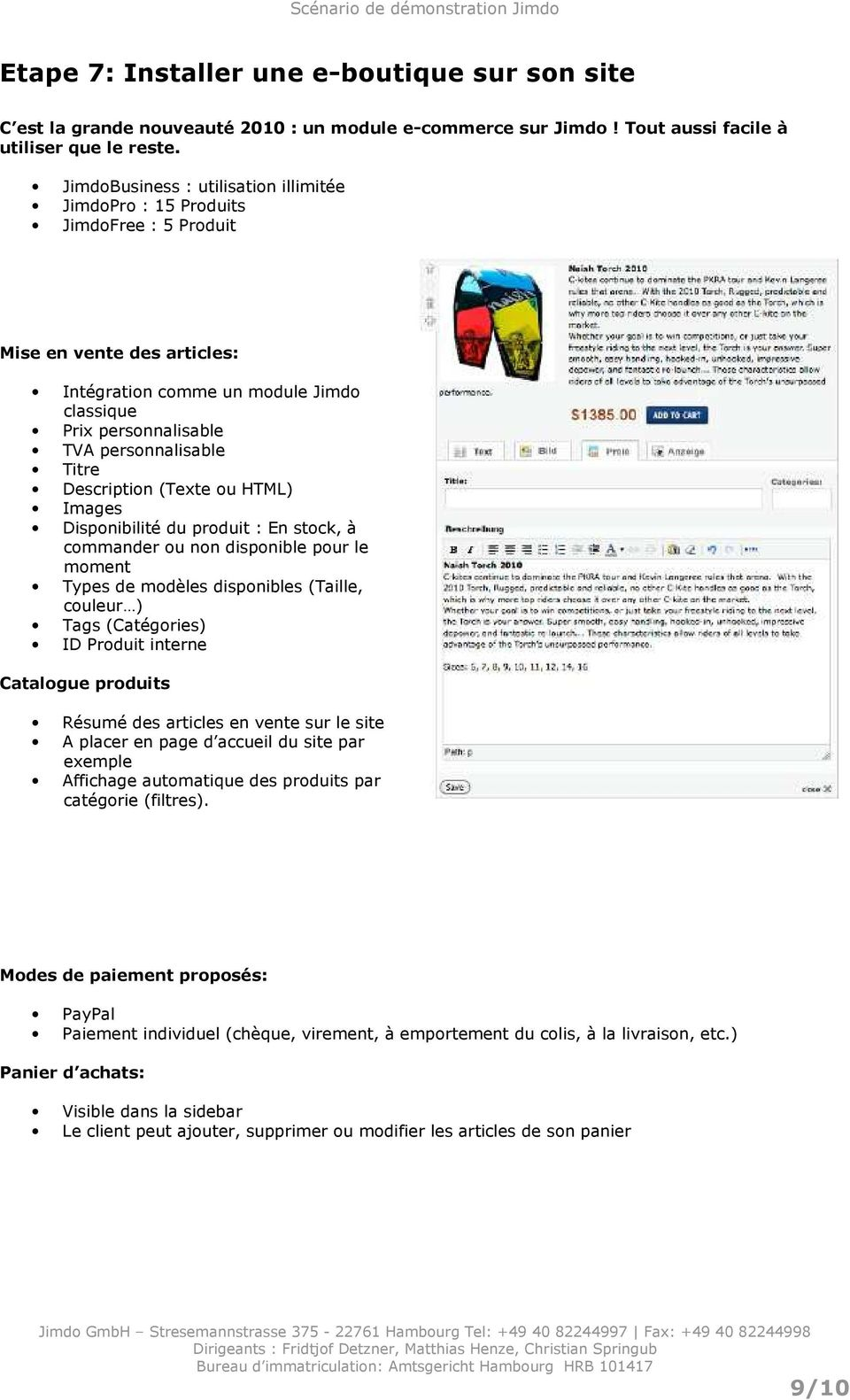 Titre Description (Texte ou HTML) Images Disponibilité du produit : En stock, à commander ou non disponible pour le moment Types de modèles disponibles (Taille, couleur ) Tags (Catégories) ID Produit