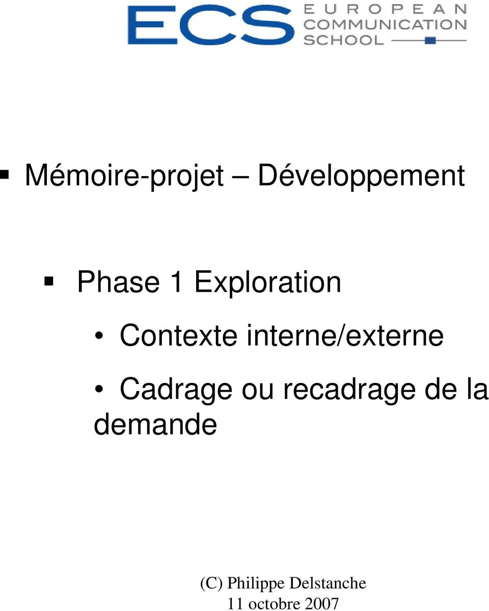 Exploration Contexte