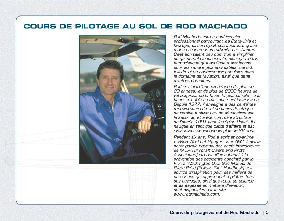cours de pilotage au sol de rod machado pdf. Black Bedroom Furniture Sets. Home Design Ideas