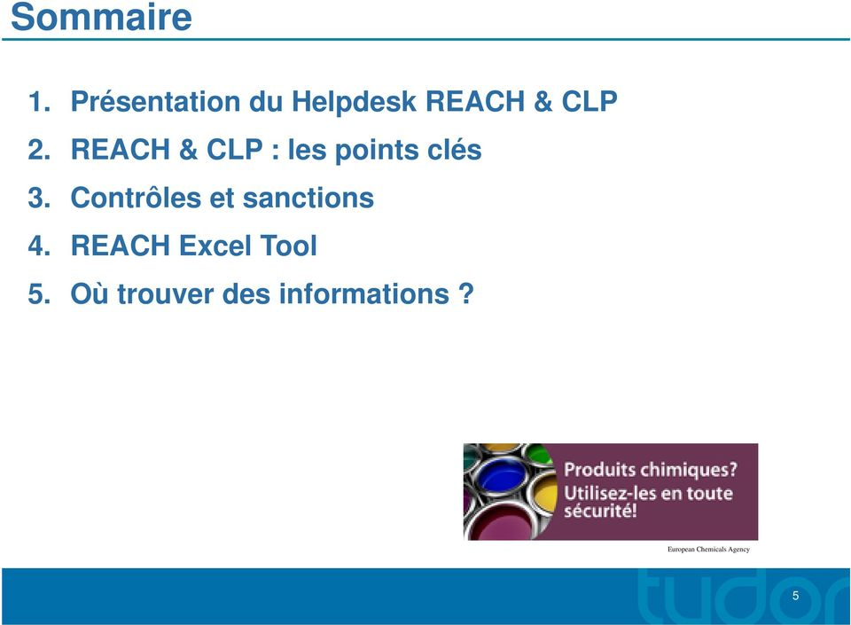 REACH & CLP : les points clés 3.