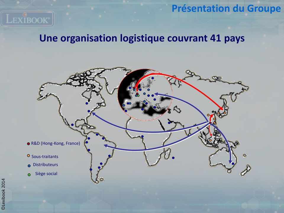 41 pays R&D (Hong-Kong, France)