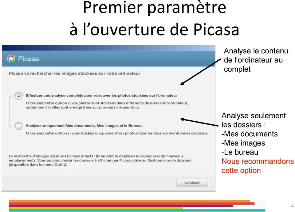 Analyse seulement les dossiers : -Mes documents