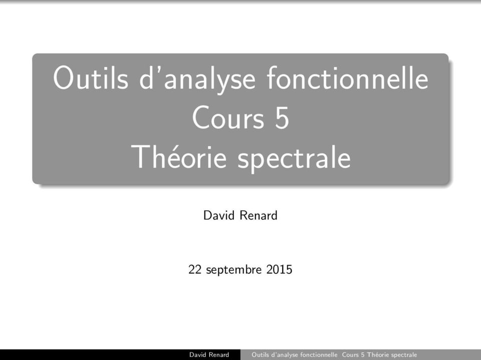 Cours 5 Théorie