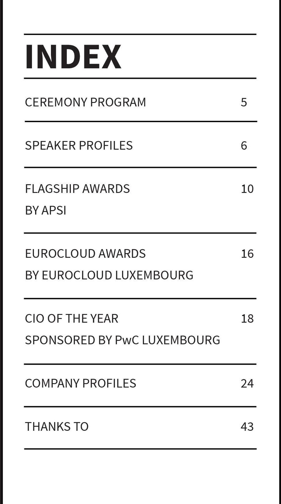 BY EUROCLOUD LUXEMBOURG CIO OF THE YEAR 18