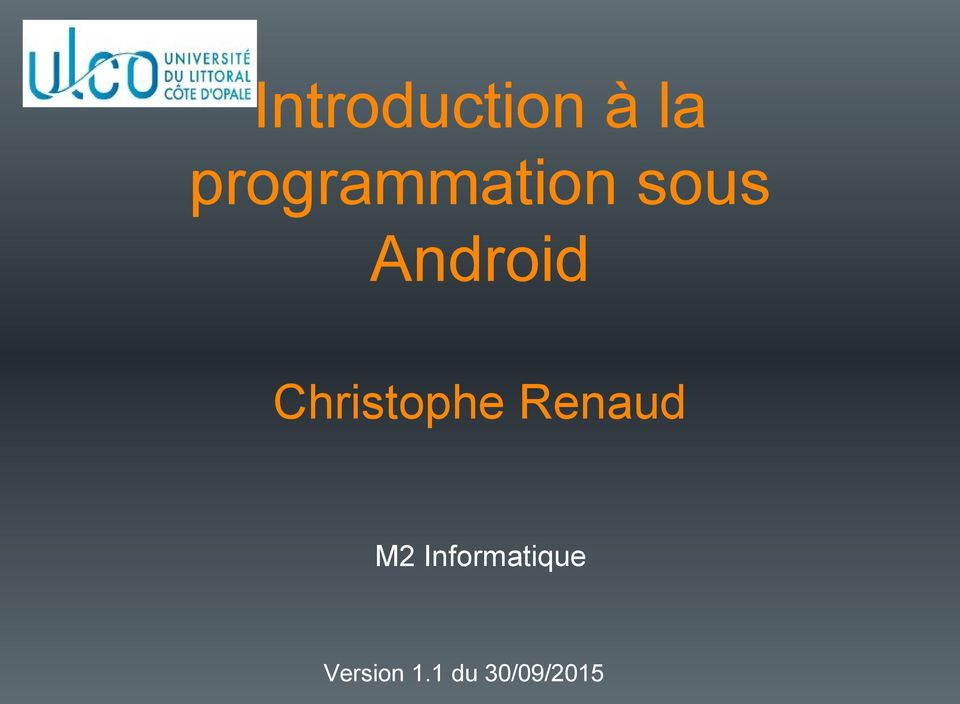 Android Christophe Renaud