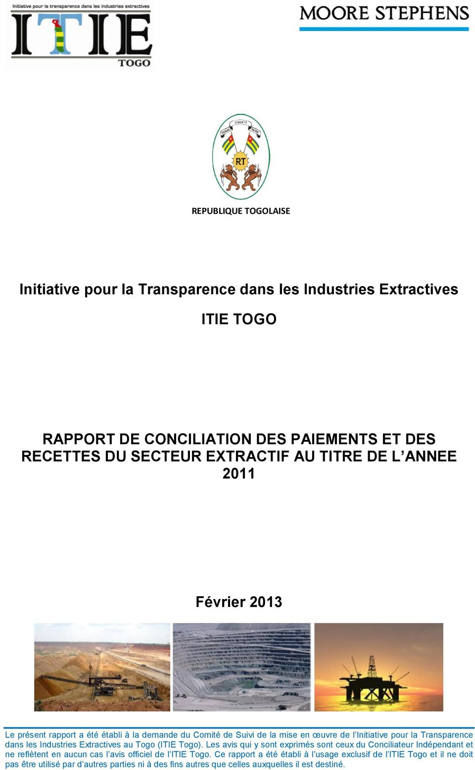 Industries Extractives au Togo (ITIE Togo).