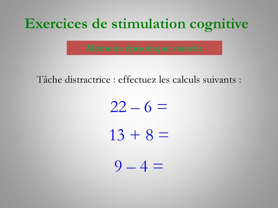 distractrice : effectuez les