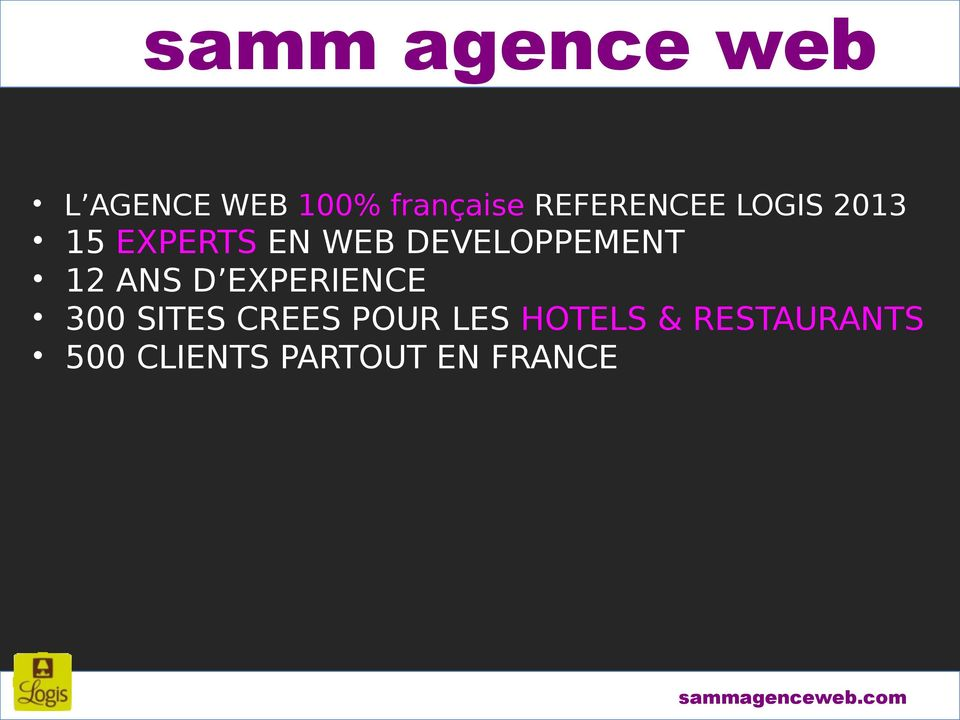 DEVELOPPEMENT 12 ANS D EXPERIENCE 300 SITES CREES