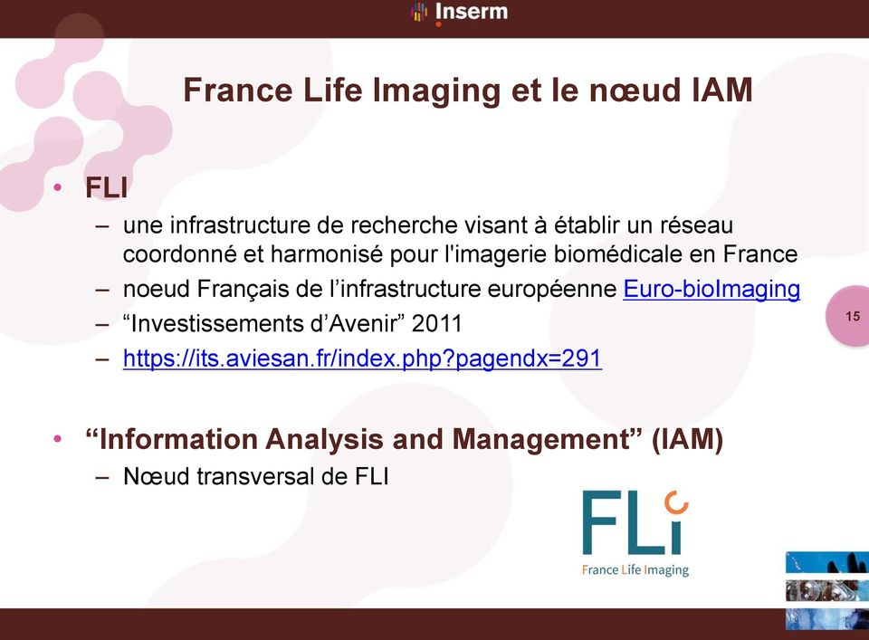 infrastructure européenne Euro-bioImaging Investissements d Avenir 2011 https://its.