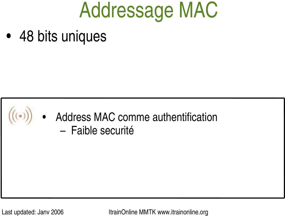 Address MAC comme