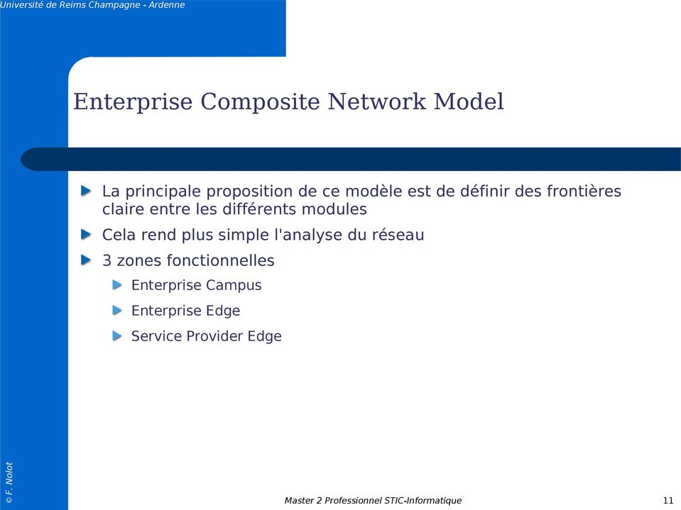 plus simple l'analyse du réseau 3 zones fonctionnelles Enterprise Campus