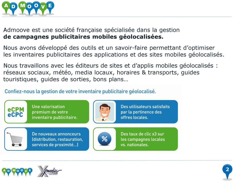 applications et des sites mobiles géolocalisés.