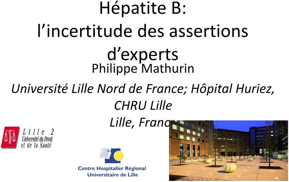 Mathurin Université Lille Nord de