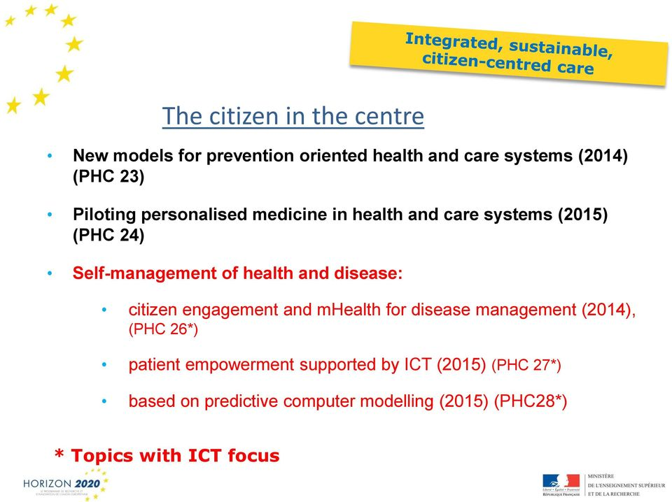 disease: citizen engagement and mhealth for disease management (2014), (PHC 26*) patient empowerment
