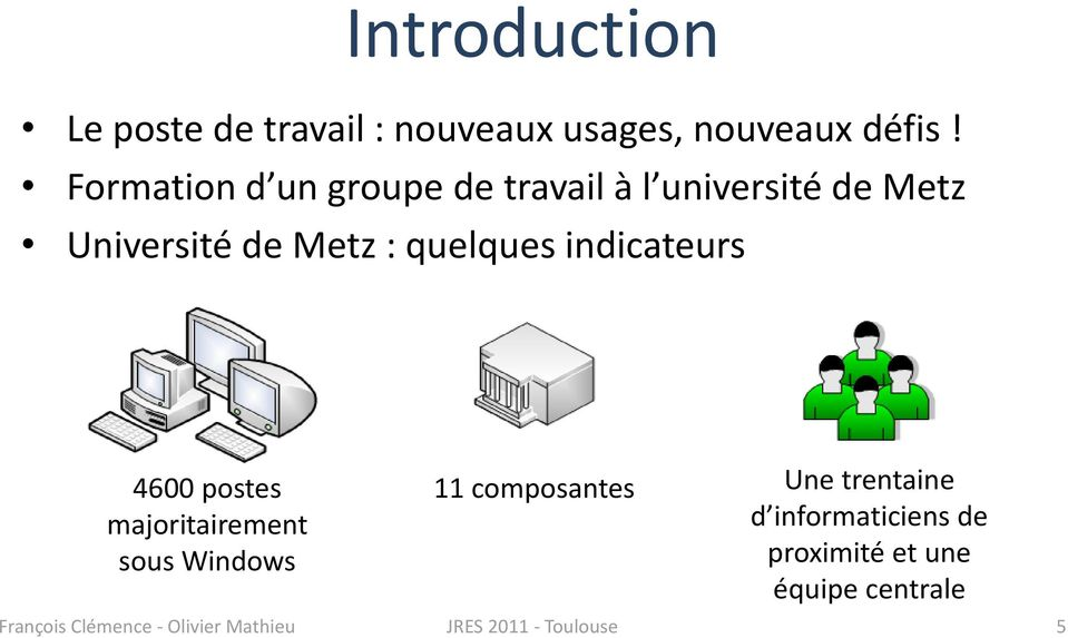 indicateurs 4600 postes majoritairement sous Windows 11 composantes Une trentaine d
