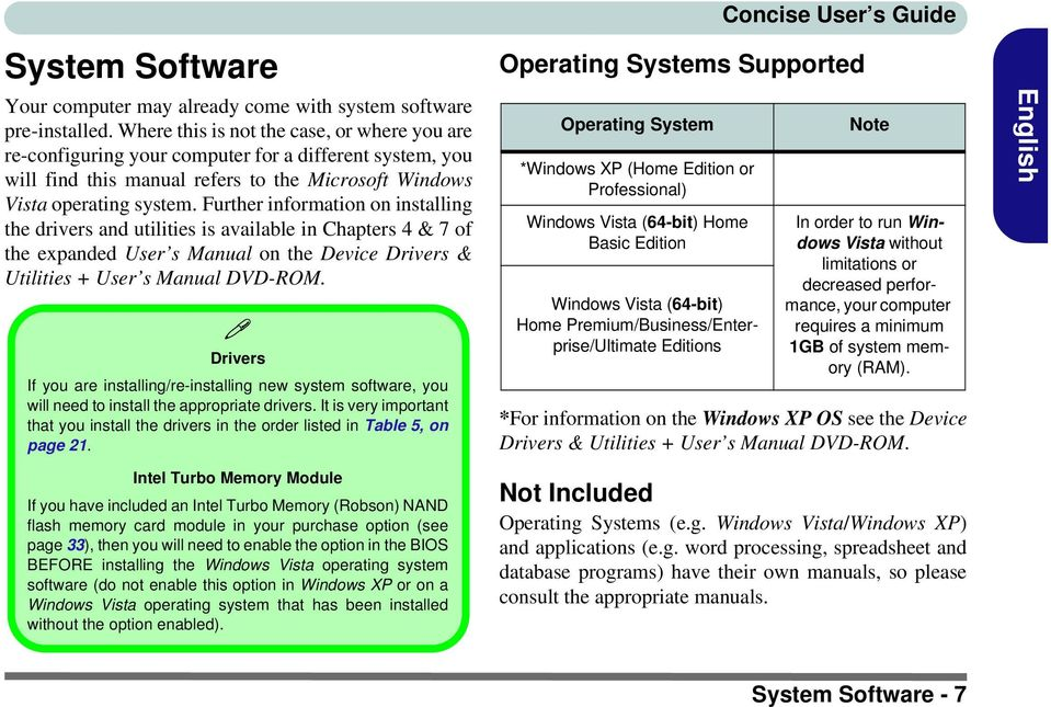 Further information on installing the drivers and utilities is available in Chapters 4 & 7 of the expanded User s Manual on the Device Drivers & Utilities + User s Manual DVD-ROM.