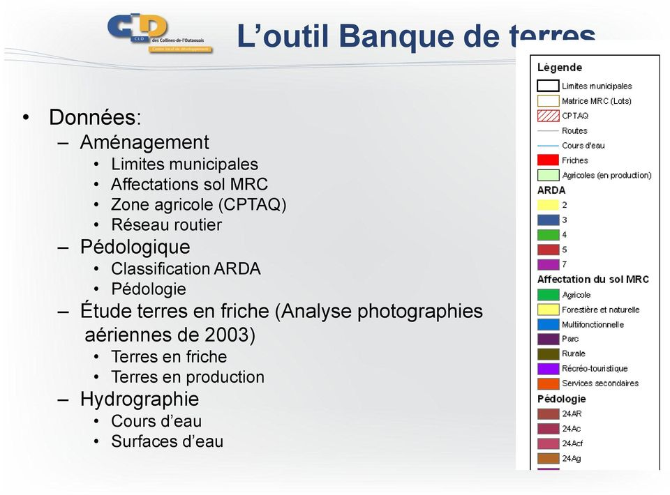 Classification ARDA Pédologie Étude terres en friche (Analyse photographies