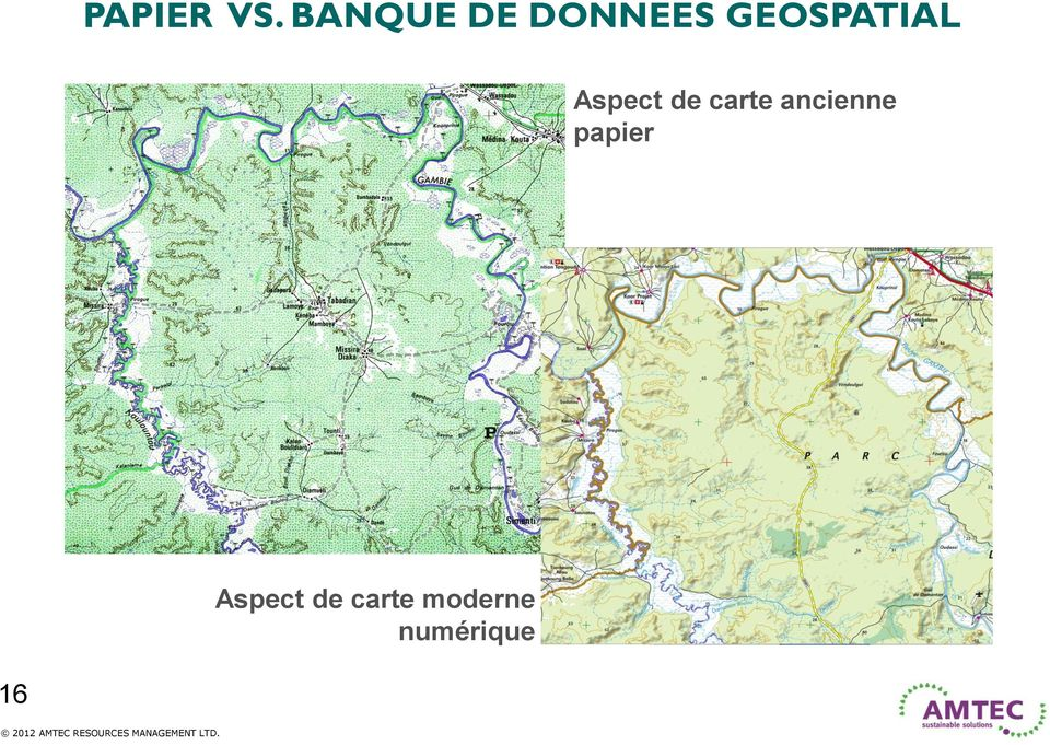 GEOSPATIAL Aspect de carte