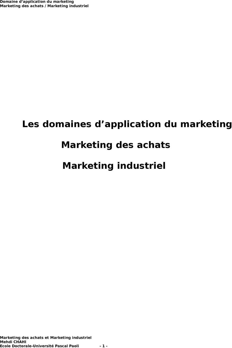 Marketing industriel Ecole
