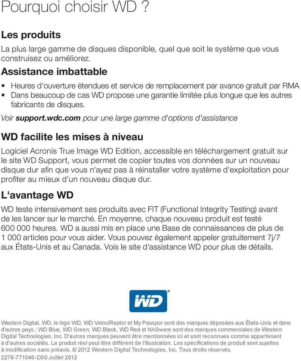 disques. Voir support.wdc.