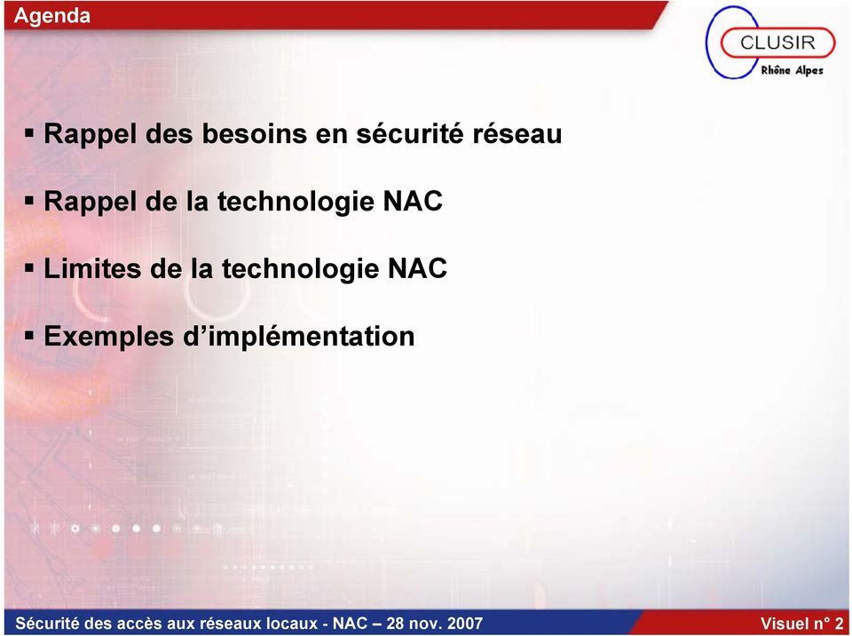 technologie NAC Exemples d implémentation