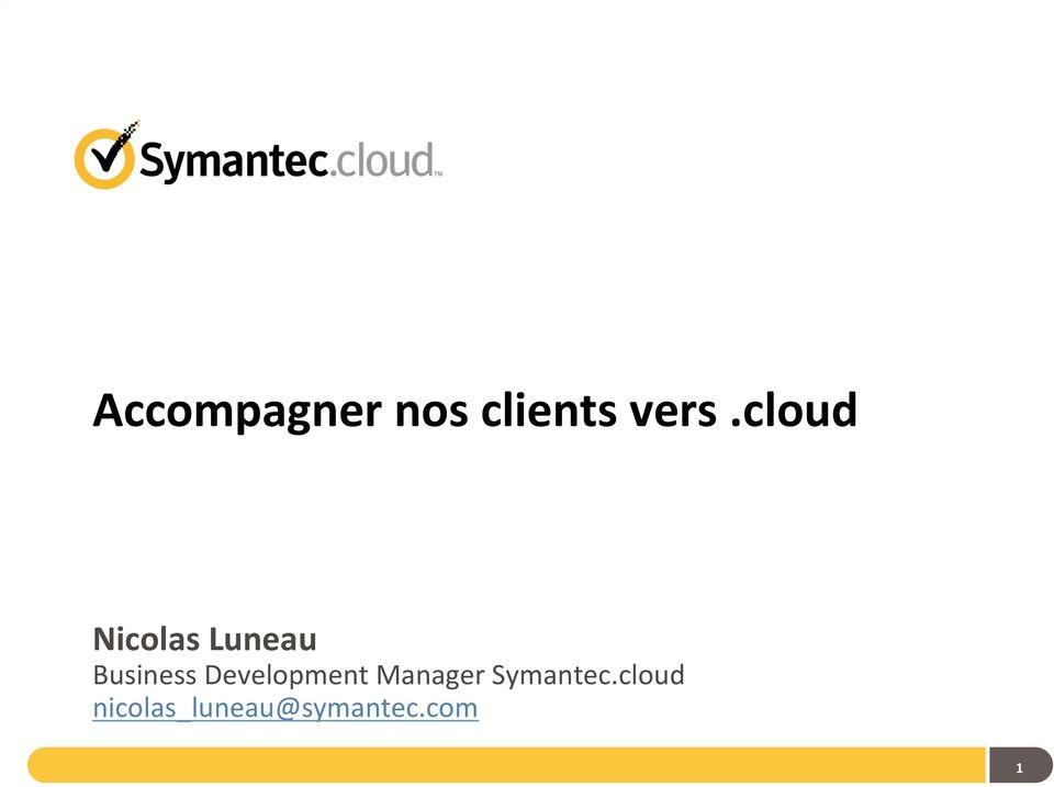 Development Manager Symantec.