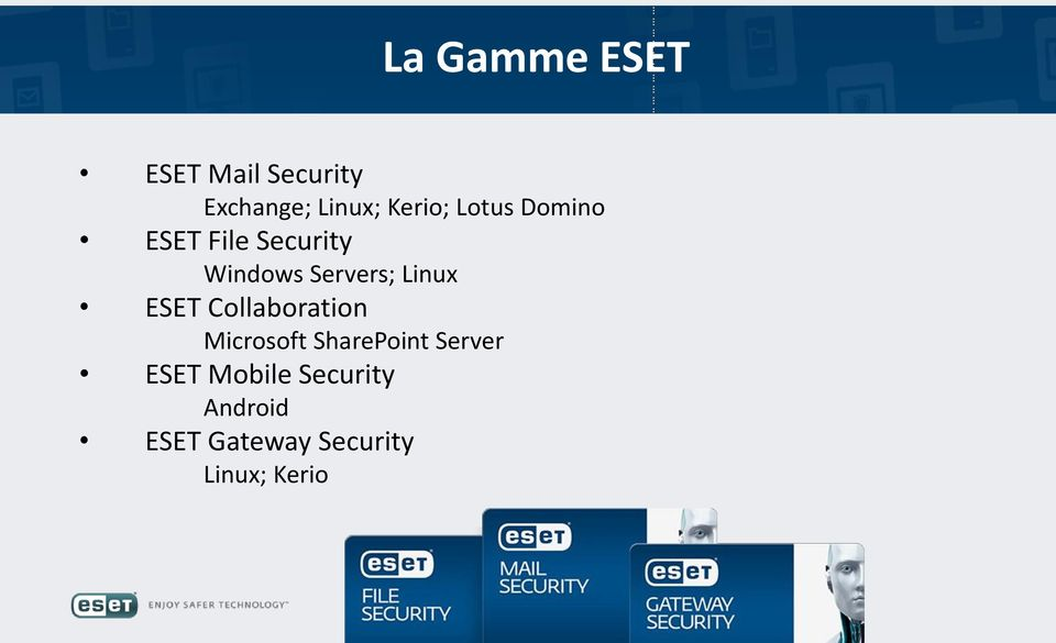 Linux ESET Collaboration Microsoft SharePoint Server