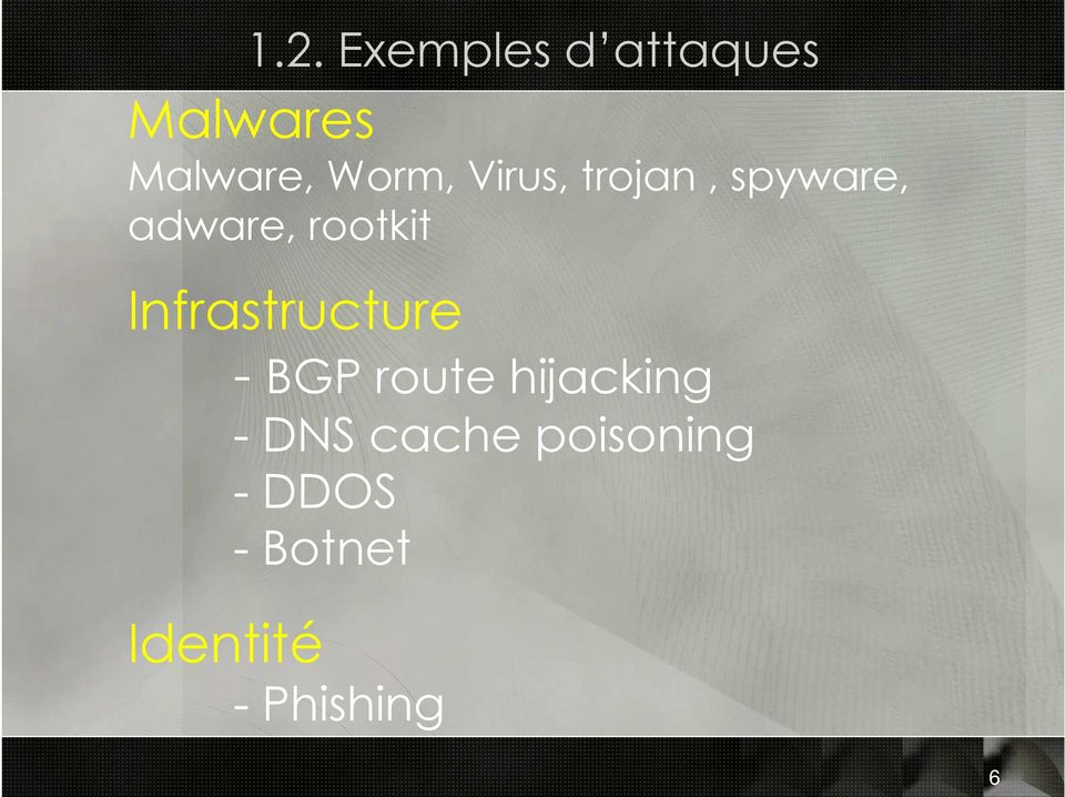 Infrastructure - BGP route hijacking - DNS
