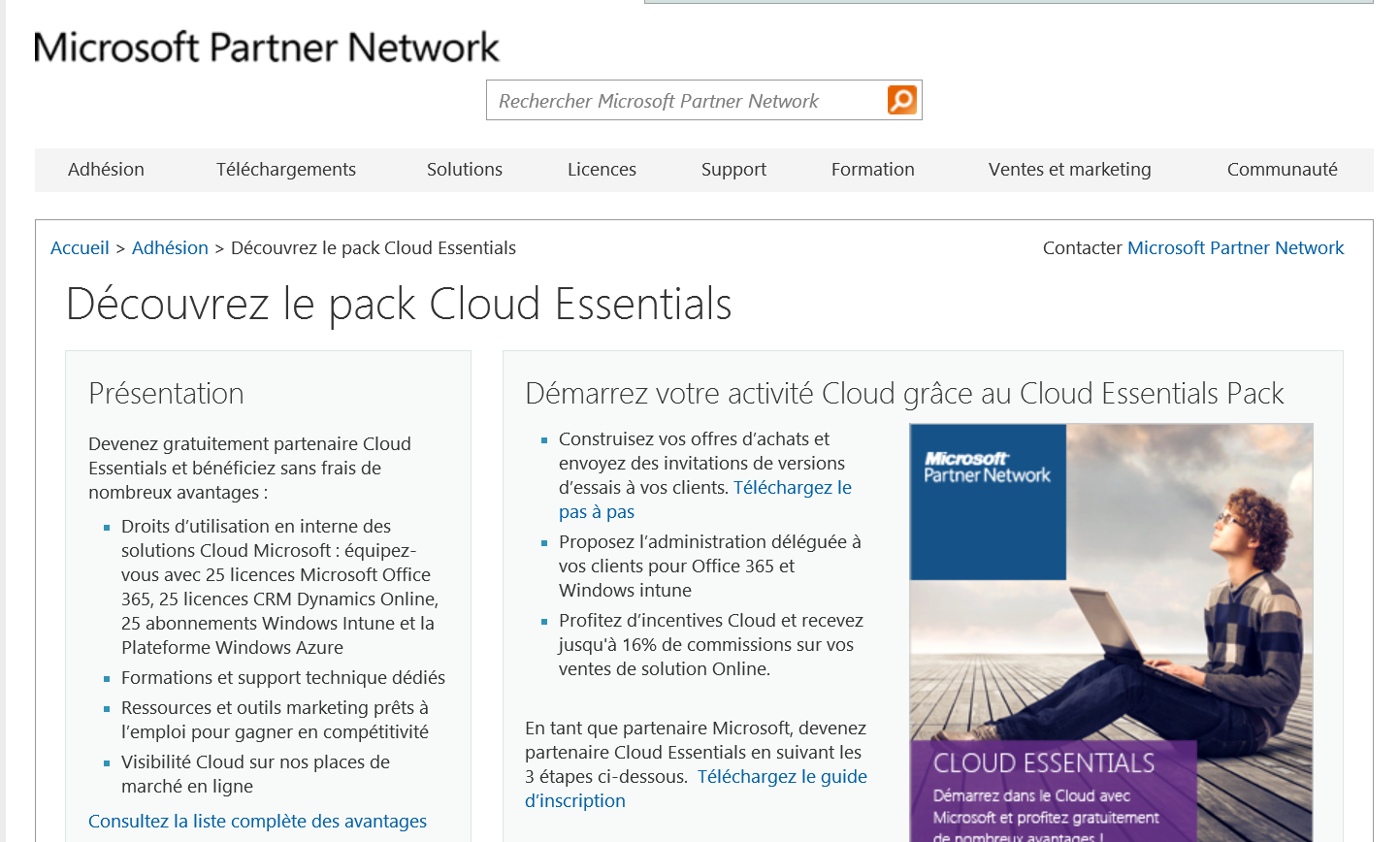 Pack Cloud Essentials https://mspartner.microsoft.