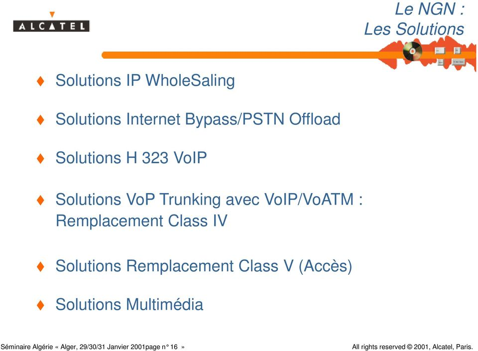 VoIP/VoATM : Remplacement Class IV Solutions Remplacement Class V