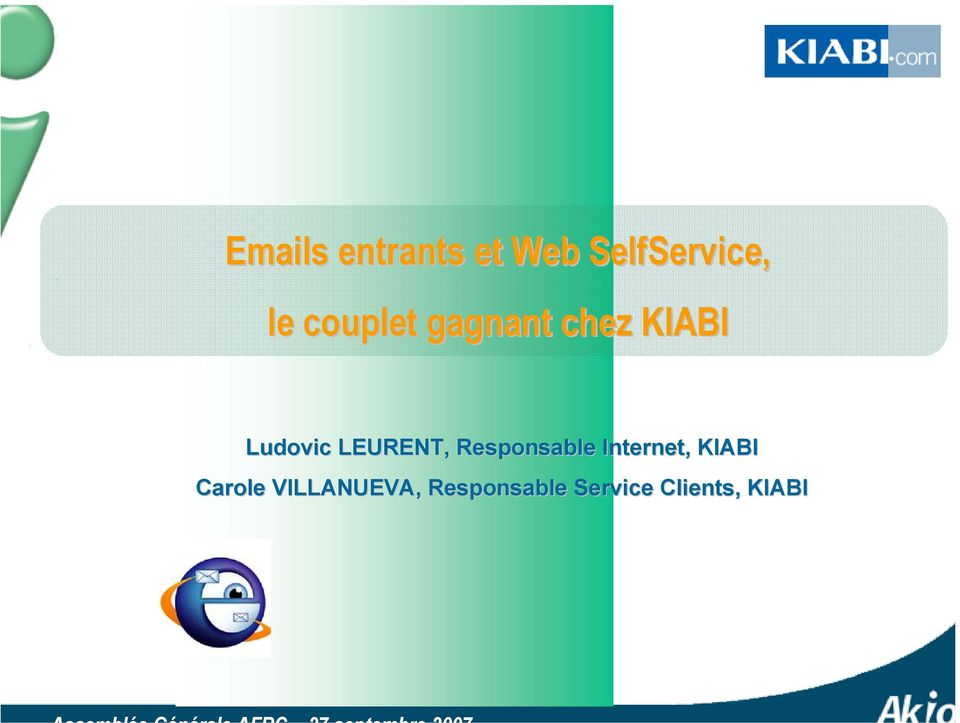 LEURENT, Responsable Internet, KIABI