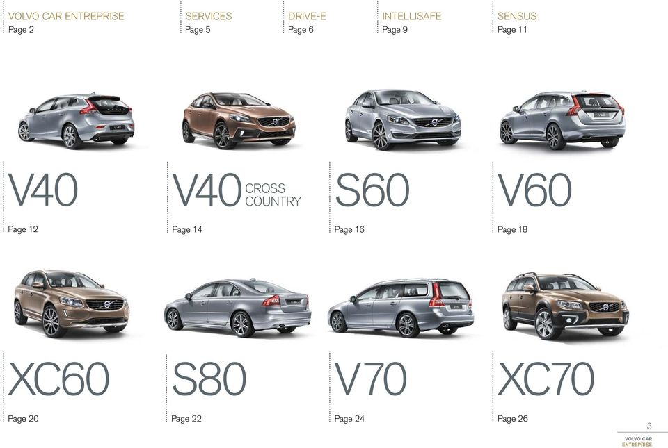 country S60 V60 Page 12 Page 14 Page 16 Page 18 XC60 S80