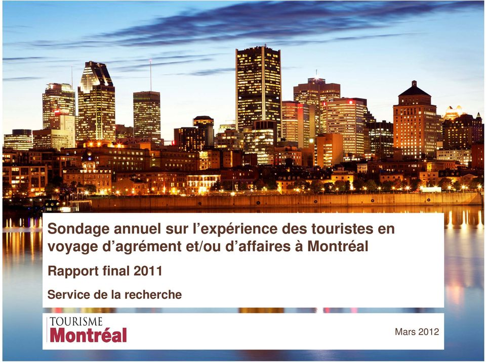 d affaires à Montréal Rapport final
