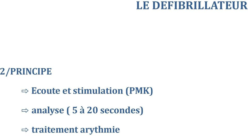 stimulation (PMK) analyse